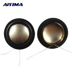AIYIMA 2Pcs Audio Tweeter Speakers 25.5MM 25 Core Titanium Film Silk Edge Diaphragm Treble Voice Coil
