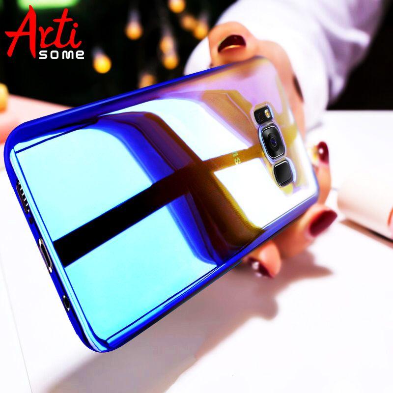 ARTISOME Fall Für Samsung S8 S8 Plus Aurora Farbverlauf Harte zurück PC Abdeckung Für Samsung Galaxy S8 Plus Fall Coque Transparent