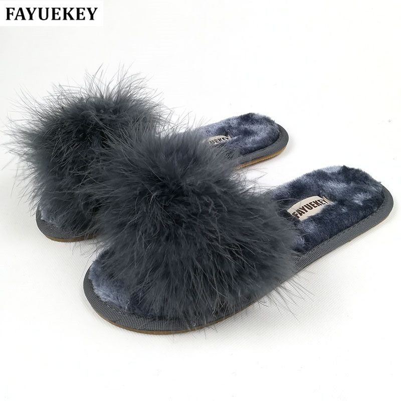 FAYUEKEY 2018 New 5 Colors Spring Summer Autumn Winter Home Cotton Plush Slippers Women <font><b>Indoor</b></font>\ Floor Flat Shoes Free Shipping