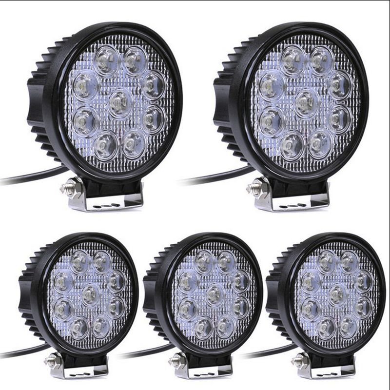 2pcs 12V 24V 27W LED Car Work Light Bar Motorcycle Lamps Spot LED Light Bar LED Car Foglight for Off Road For Jeep VW Toyota