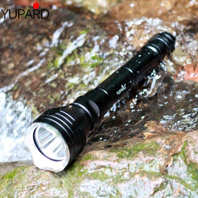 Yupard plongeur plongée 100m profondeur Sous-Marine Lampe De Poche Étanche Torche lumineuse XM-L2 LED T6 blanc lanterne jaune lampe 18650