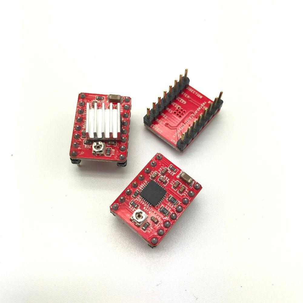 3 pièces Reprap pilote pas à pas A4988 moteur pas à pas pilote Module livraison directe couleur: rouge