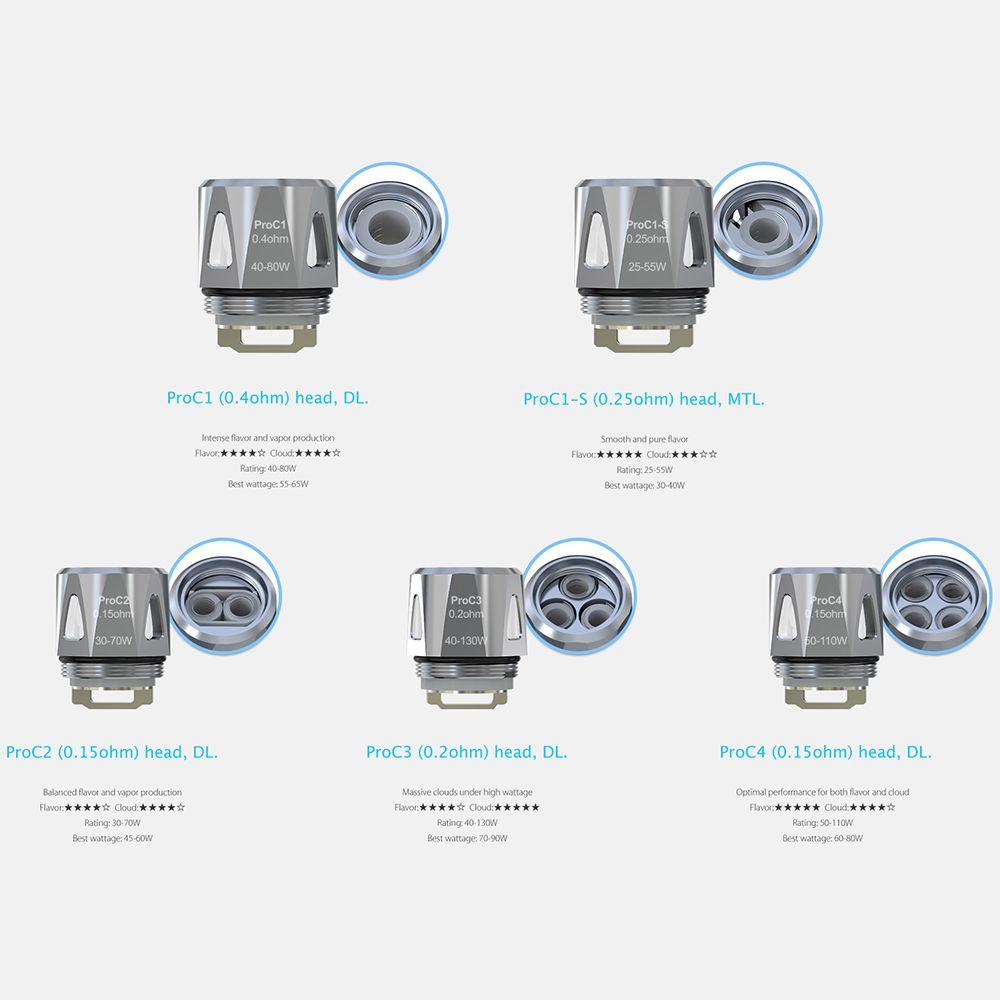 5 stücke Original Joyetech ProC Spulen fit für Joyetech ProCore Widder Zerstäuber proc1 proc2 Elektronische zigarette spulen