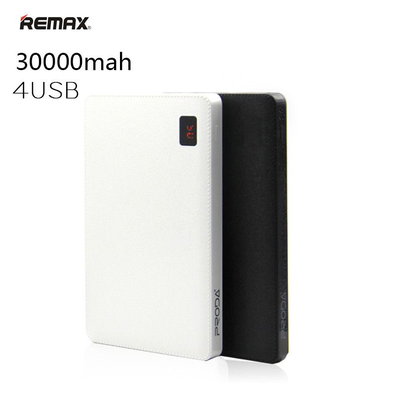 Remax 30000 mah Power Bank Portable 4 USB Output External Battery Charger for iPhone X 8 8plus For iPad Mobile Phones