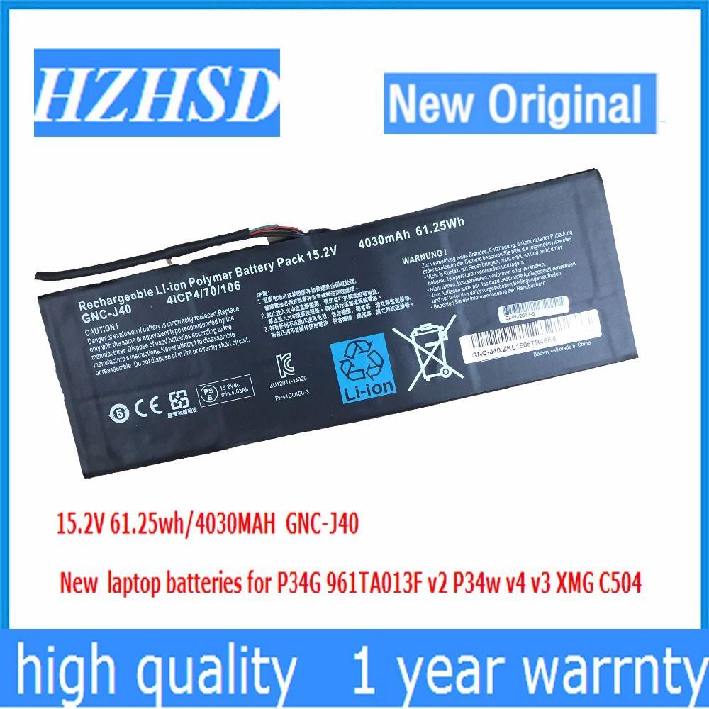 15,2 V 4030 mAh 61.25Wh neue Original GNC-J40 961TA013F Laptop Akku Für GIGABYTE P34W P34K P34F P34G V2 V3 V4 V5 V7