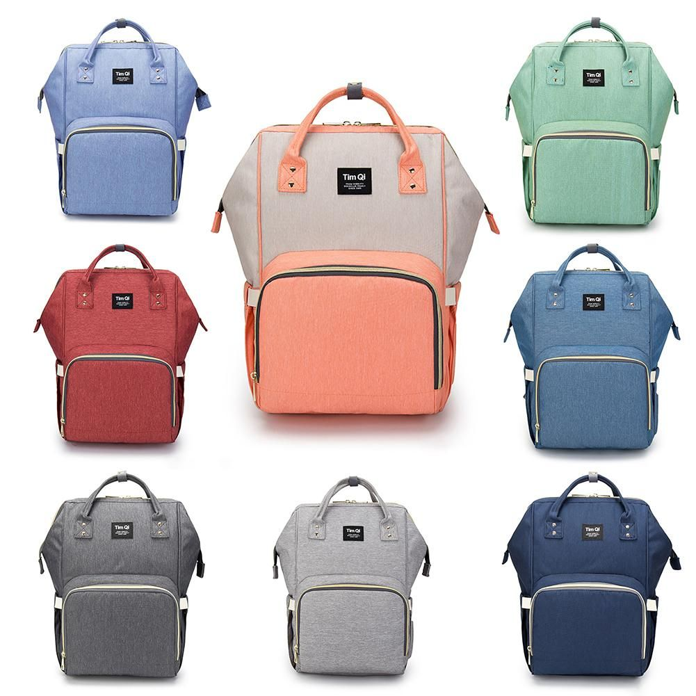 Multi-function Large Capacity Mummy Bag Waterproof Diaper Backpack Infant & Mom Bag
