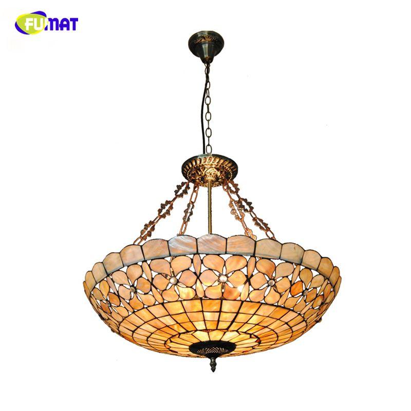 FUMAT European Living Room led light lamp Shell Lustre Decorative Light Vintage Pendant Light Indoor Lighting 24