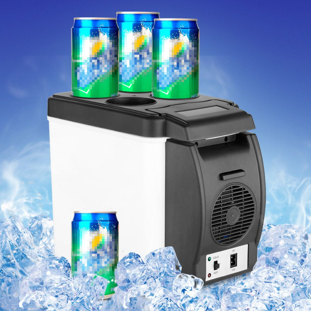 Big Promotion Mini 6L Car Freezer Refrigerator Cooler Fridge 12V Portable Heat Warming Multi-Function Anti-Rotten Keep Cool Warm