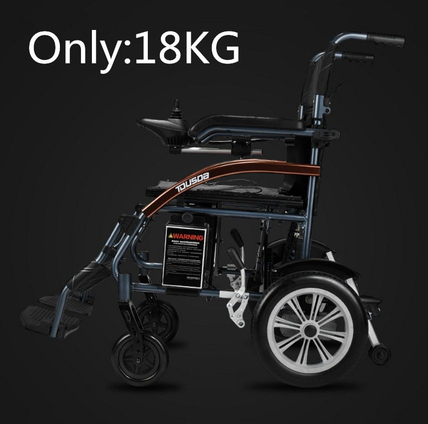 Free shipping Good price super light folding electric wheelchair with lithium battery