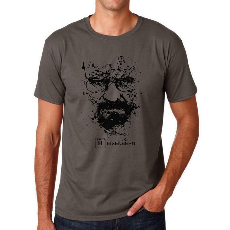 Top Qualité Coton heisenberg drôle hommes t shirt casual manches courtes breaking bad impression hommes T-shirt Mode T-shirt frais pour hommes