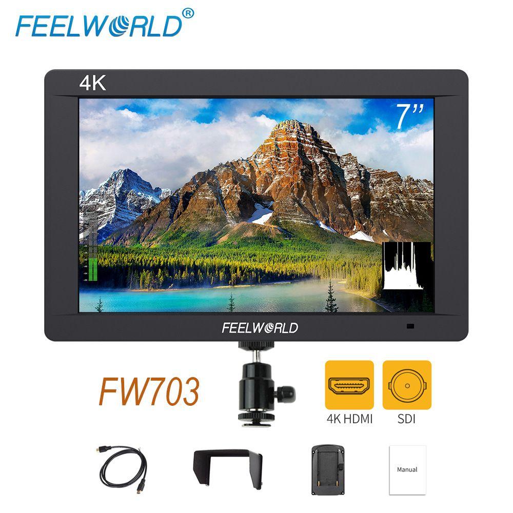Feelworld FW703 3g SDI 4 karat HDMI DSLR Monitor 7 zoll LCD IPS Full HD 1920x1200 Tragbare auf Kamera Feld Monitor für Kameras Rig