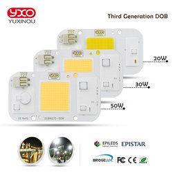 SMD COB Spotlight AC 220 V DOB Led Ampoule Puce Haricots Smart IC 20 W 30 W 50 W Économie D'énergie Lampe Extérieure Blanc/Chaud Souper Lumineux lumière