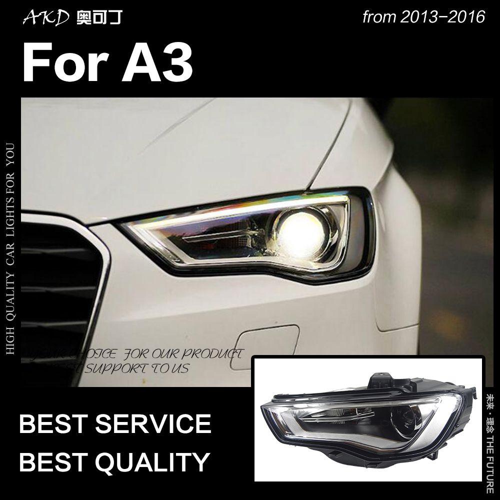 AKD Auto Styling für A3 Scheinwerfer 2013-2016 Upgrade S3 Alle LED Scheinwerfer DRL Hid Kopf Lampe Engel Auge bi Xenon Strahl Zubehör