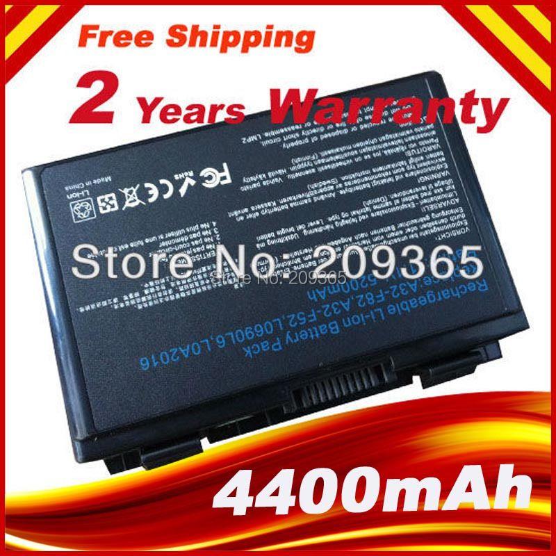 [Precio especial] Batería del ordenador portátil para ASUS A32-F82 A32-F52 L0690L6 L0A2016 K40IJ K40IN K50AB-X2A K50ij K50IN K70IC K70IJ K70 X5DIJ