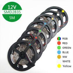 RGB 300 LED strip light 5m 60LEDs/m SMD 3528 White Warm White Red Green Blue LED strip 12V Waterproof flexible Tape rope stripe