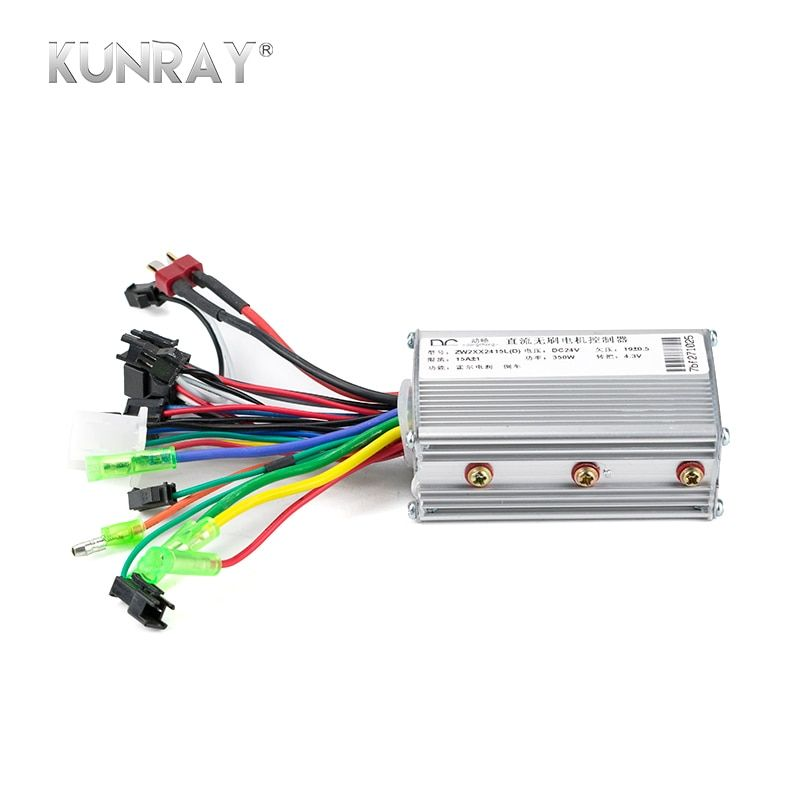 KUNRAY 24V 36V 48V 350W Brushless Controller For Electric Bike Bicycle <font><b>Scooter</b></font> Speed BLDC Motor 6MOSFET With Hall Reverse D26