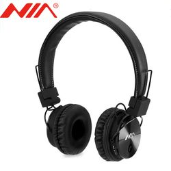 Asli Nia X3 Headset Nirkabel Stereo Bluetooth Headphone Fone De Ouvido Bluetooth dengan MIC Mendukung TF Kartu FM Radio Earphone