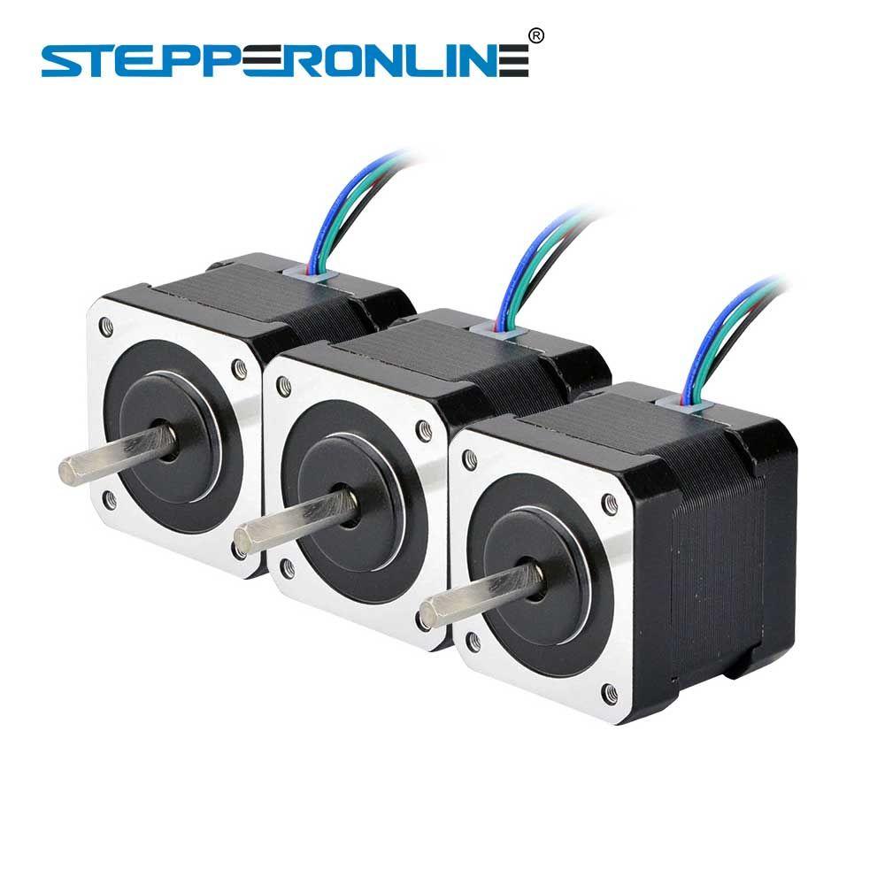 3PCS Nema 17 Stepper Motor 40mm 45Ncm(64oz.in) 2A 4-lead Nema17 Step Motor 1m Cable for DIY 3D Printer CNC Robot