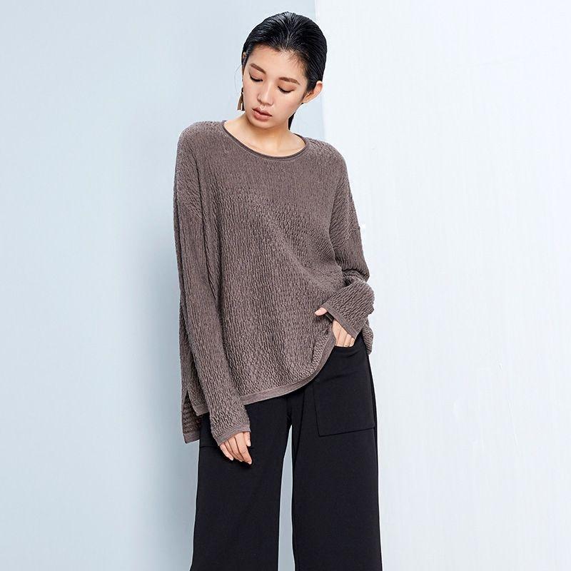 LYNETTE'S CHINOISERIE 2016 Spring Autumn Original Design Women Loose Casual Brief Straight Pullover Merino Sweater