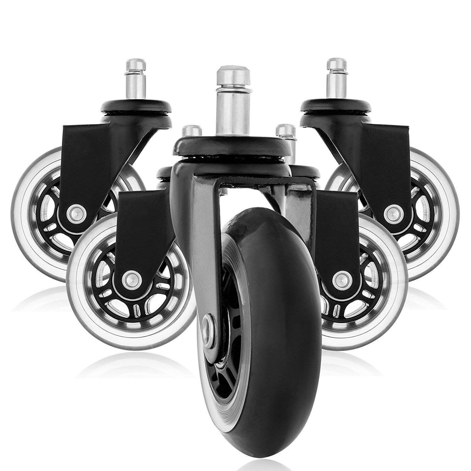 Furniture Caster Replacement Wheels Office Chair Caster Wheels for Your Desk Chair Quiet Rolling Casters Wheel Diameter2.9