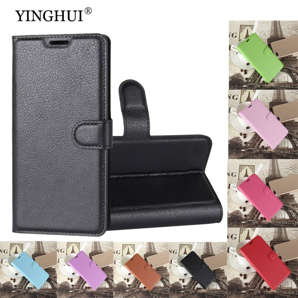 YINGHUI PU Leather Case For Alcatel OneTouch Idol 3 4.7 6039 6039A 6039K 6039Y Magnetic Flip Wallet Cover Fundas Stand Cases