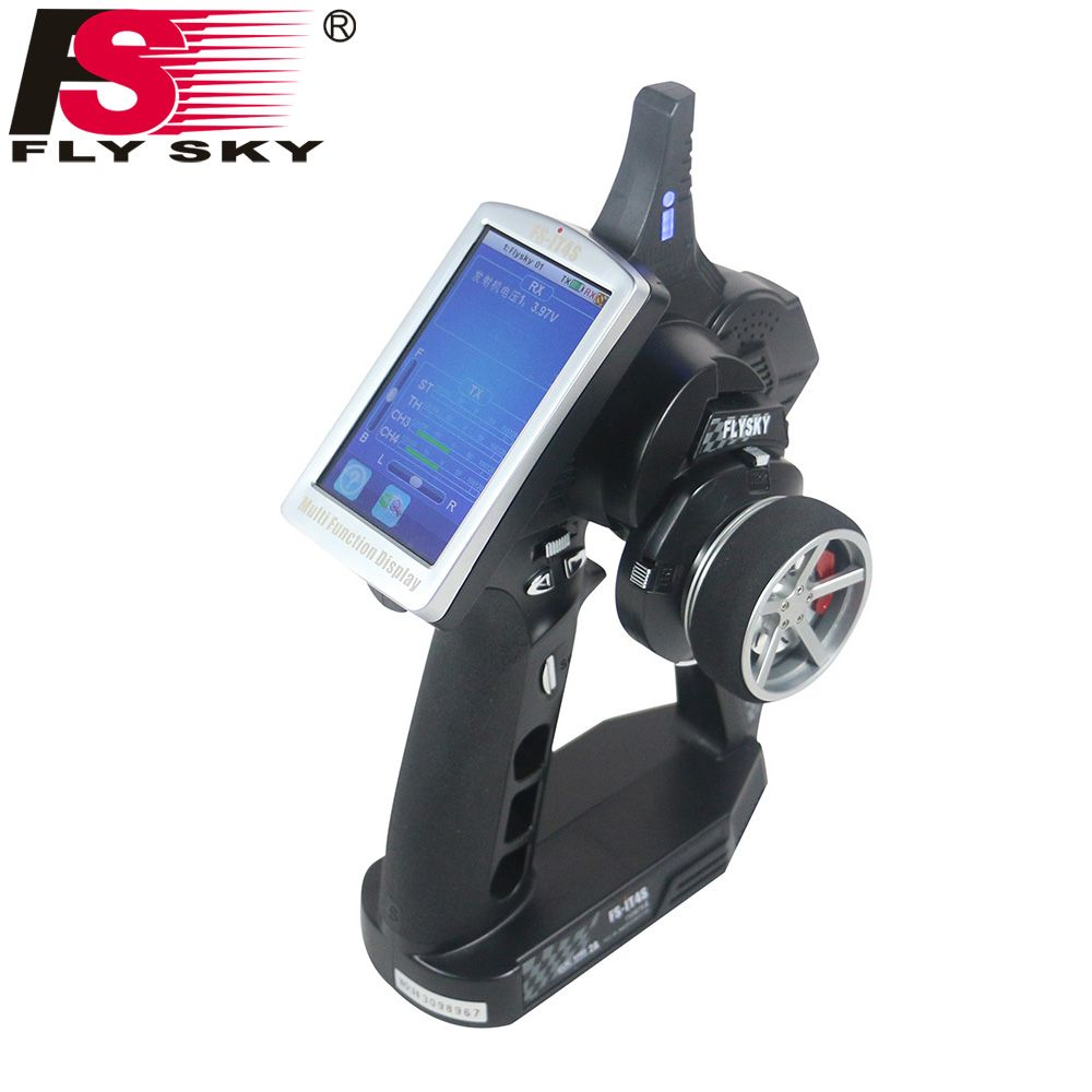 Fly Sky FS-iT4S 2.4GHz 4CH 2Gun AFHDS RC Radio System Transmitter Controller with Touch Screen iT4S PK FS iT4 i4 for RC Car Boat