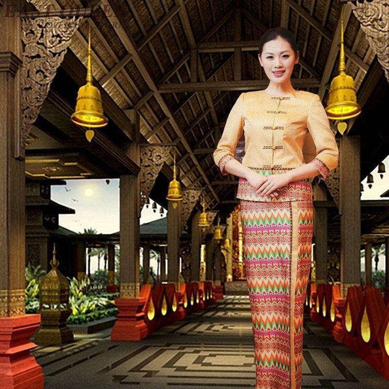 Beauty salon thai massage uniform clinical beautician uniforms woman female clothing 2 piece pants sets DD1400