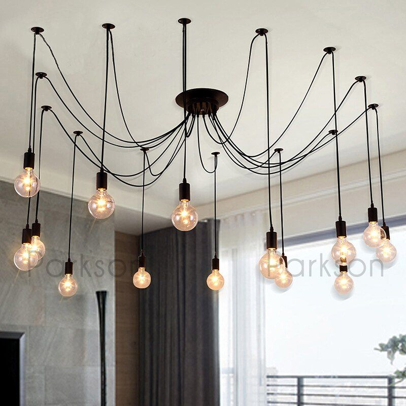 Vintage Led Lamp Edison Bulb Hanglamp E27 Pendant Lights Fixture Led Light 2m Ceiling Lamp suspension luminaire Home Lighting