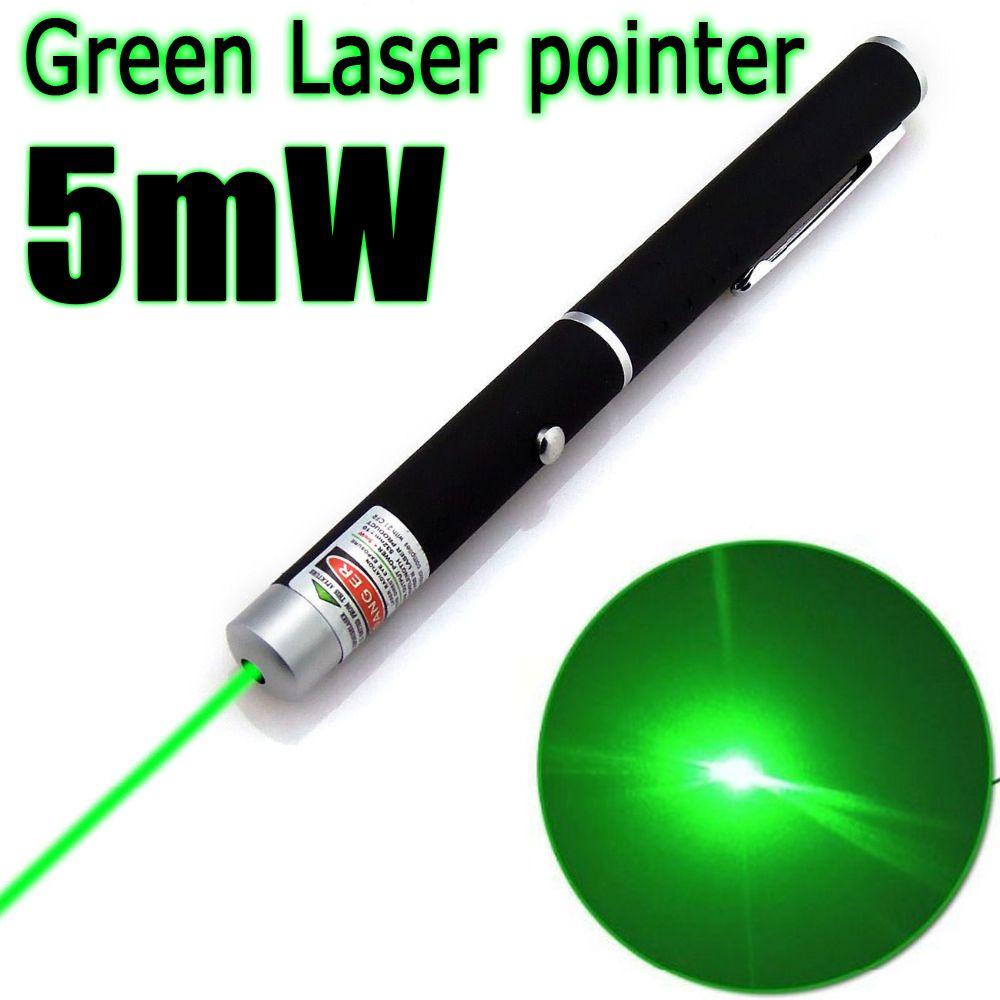 1 STÜCKE Leistungsstarke Grün/Rot/Blau Laserpointer Beam Licht 5 mW Professionelle High Power Laser Hot verkauf