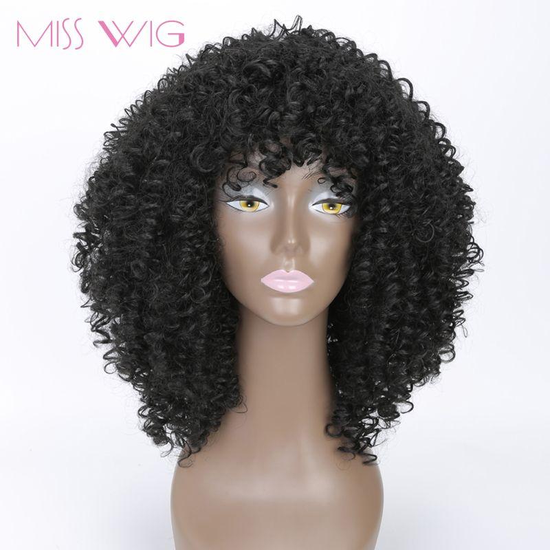 MLLE PERRUQUE longue Crépus Bouclés Perruques Afro Perruque Perruques Courtes pour noir Femmes Haute Température Fiber Synthétique Cheveux Blcak Rouge Blonde couleur