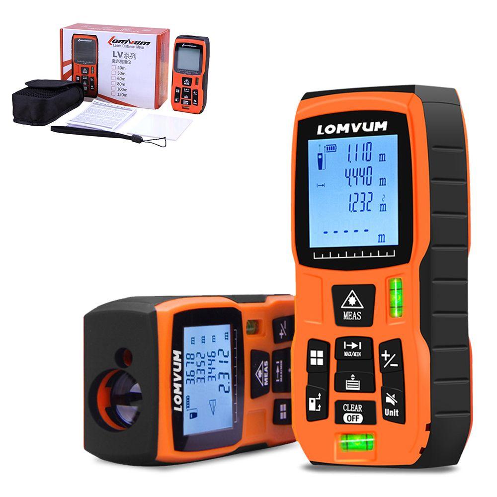 LOMVUM 80/120m trena mesure ruban medidor Laser règle télémètres numérique Distance mètre mesureur télémètre Laser metreler