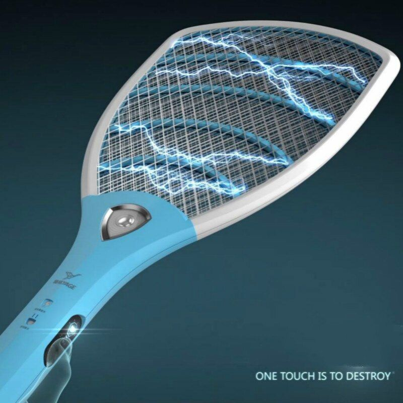 YAGE Pest Control Electric Mosquito Swatter Mosquito Killers Bug Zapper Reject Racket Trap Electric Shock with Lights Touch