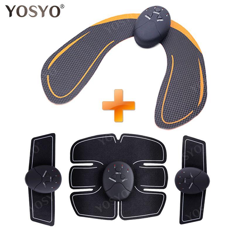 YOSYO 6 PACK EMS stimulateur musculaire intelligent entraîneur Abdominal Pad + EMS formateur de hanche fesses levage des fesses masseur minceur unisexe