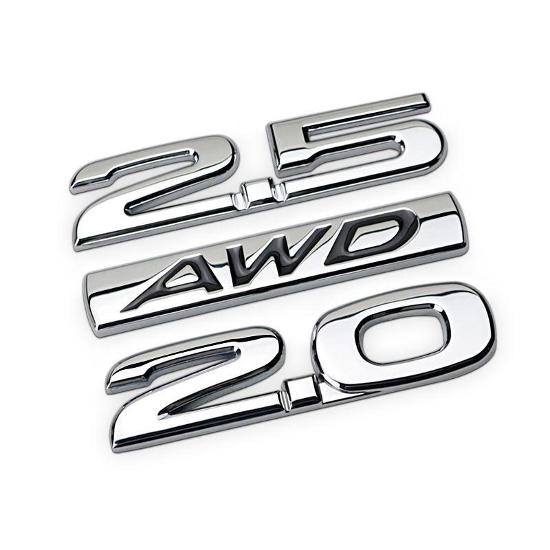 2.0 2.5 AWD bar Chrome Metal Zinc Car Styling Refitting Emblem Trunk Letter Number Discharging Capacity 3D Sticker for Mazda CX4
