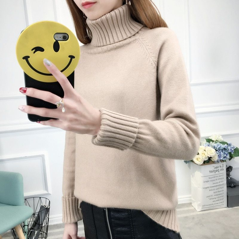 Thick Warm Turtleneck Sweater Women 2017 Autumn Winter Tricot Jumper Women Sweaters And Pullovers Female Knitted Tops