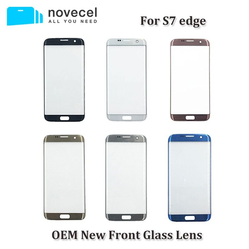Novecel OEM New G935 Front Glass Lens For Samsung S7 edge LCD Display Outer Touch Panel Screen Glass Replacement