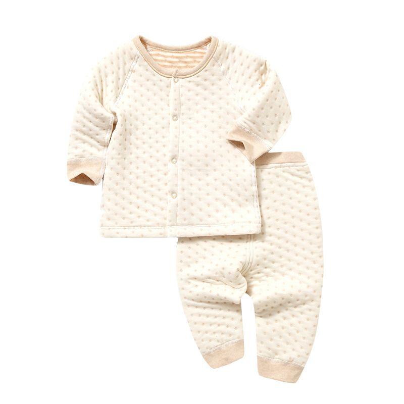 2018 новый стиль теплые Обувь для мальчиков Обувь для девочек одежда с длинным рукавом Хлопок Наборы для младенцев mhf1-mhf12
