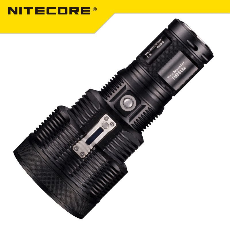 Ursprüngliche Nitecore TM38 Lite Tiny Monster CREE XHP35 HALLO D4 1800 Lumen Langhub Wiederaufladbare LED Taschenlampe durch 18650 Batterie