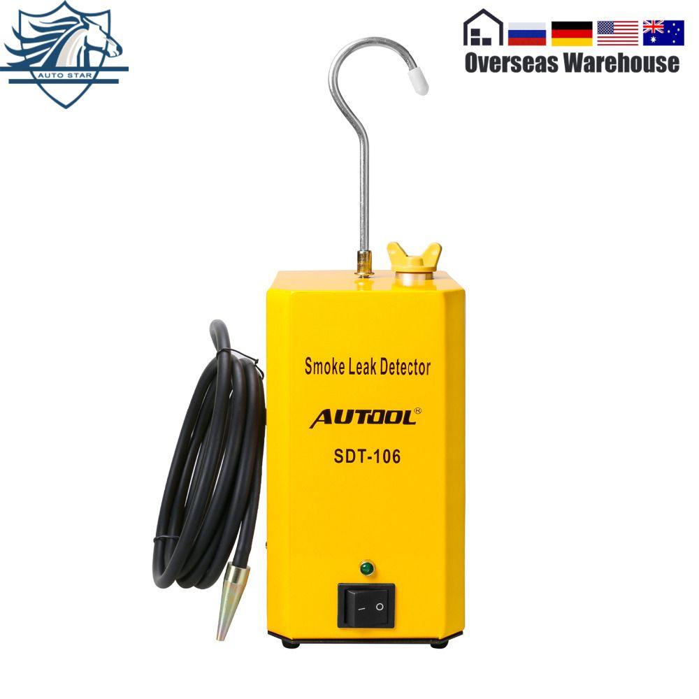 Autool SDT106 EVAP Automotive Smoke Leak Detector Smoke Test Manchine Car Pipe Leakage Tester Universal For Motorcycle/Car/Truck