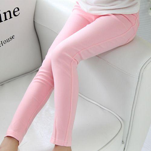 Enfants 2019 printemps automne vêtements pour enfants skinny pleine longueur bonbon crayon de couleur en gros filles leggings fille pantalon