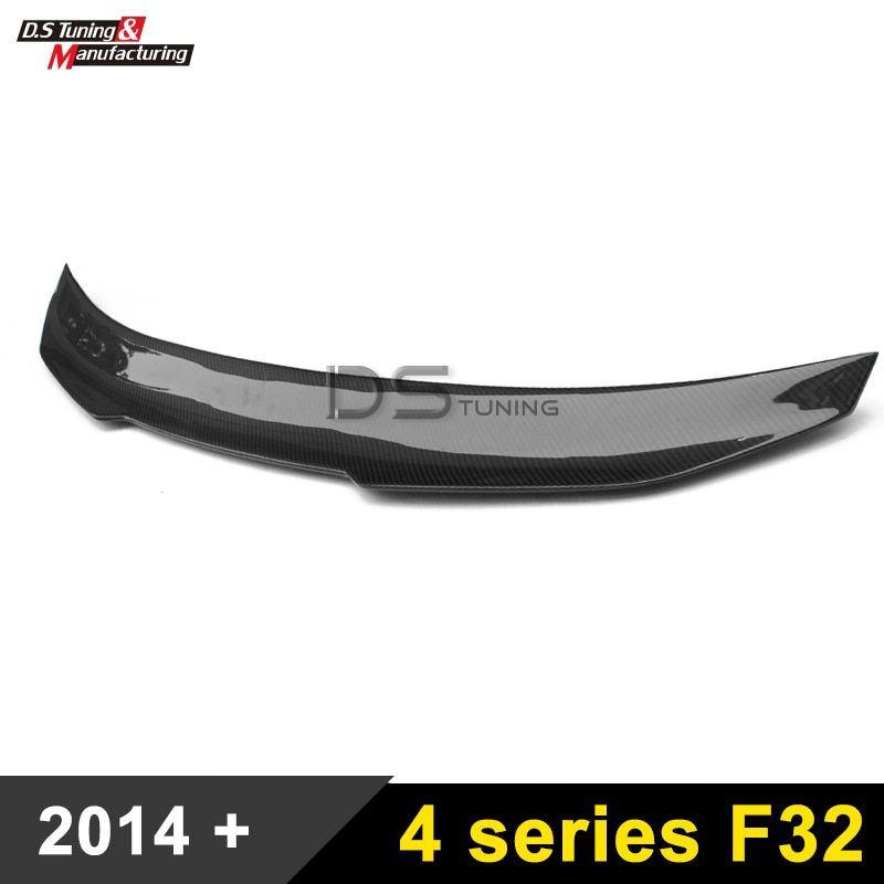 F32 Carbon Fiber Rear Spoiler Wing PSM Style Trunk Boot Lip For BMW F32 4 Series 2-door Coupe 2014 - present
