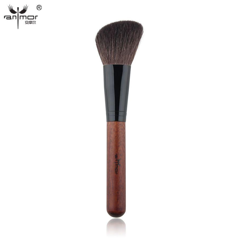 Anmor marque haute qualité Blush brosse professionnelle pinceaux de maquillage chèvre cheveux maquillage brosse D006
