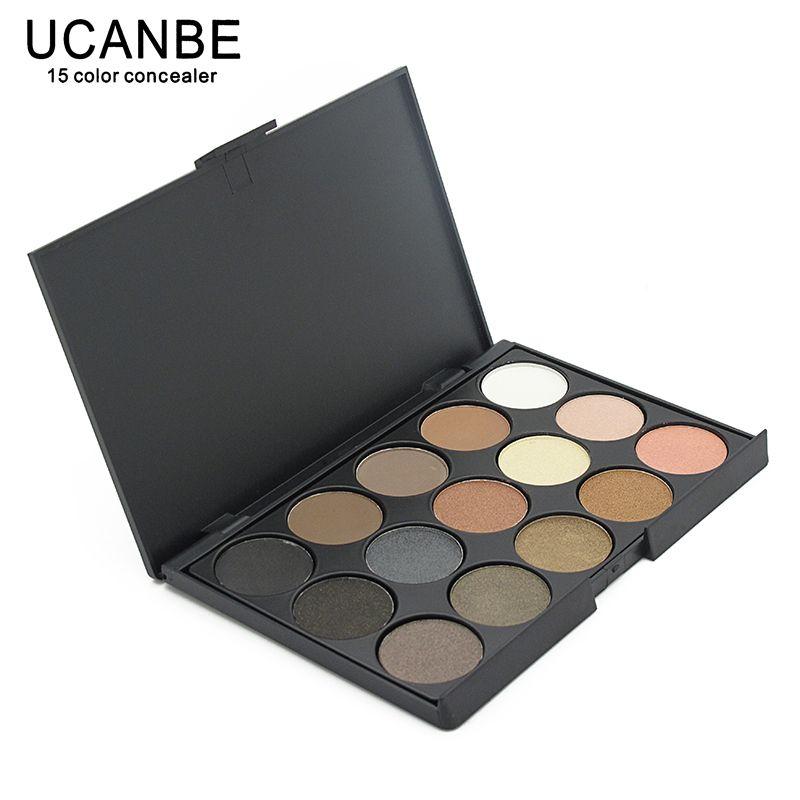 UCANBE 15 Tierra Color Mate Paleta de Sombra de ojos Del Pigmento Del Brillo Cosméticos Maquillaje Desnudo de Sombra de Ojos paletas