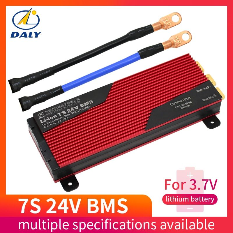 Daly 7s Bms 29.4v Lithium Battery Bms Charging Voltage 29.4v 80a 100a 120a 150a 200a Bms Pcm for e-bike