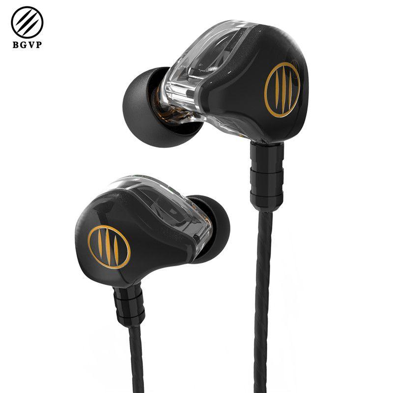Newest BGVP DS1 Hybrid Earphone Balanced Armature Dynamic HiFi Earphone MMCX Fever Audiophile Music In Ear Monitor Earphones