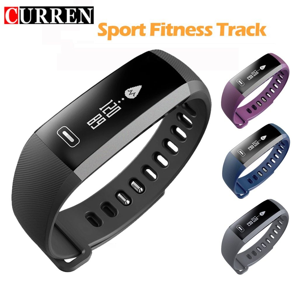 CURREN Sport Bracelet Watch men Smart wristBand Fitness Tracker Heart rate Blood Pressure Oxygen Oximeter Watches intelligent R5