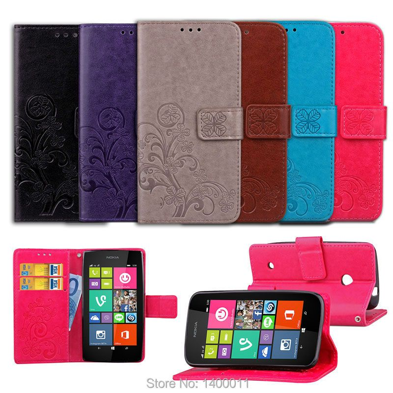 Embossing Stand Flip PU Leather Case For Microsoft Nokia Lumia 530 532 535 640 925 930 cell Phone Cover Cases For Nokia 5 6