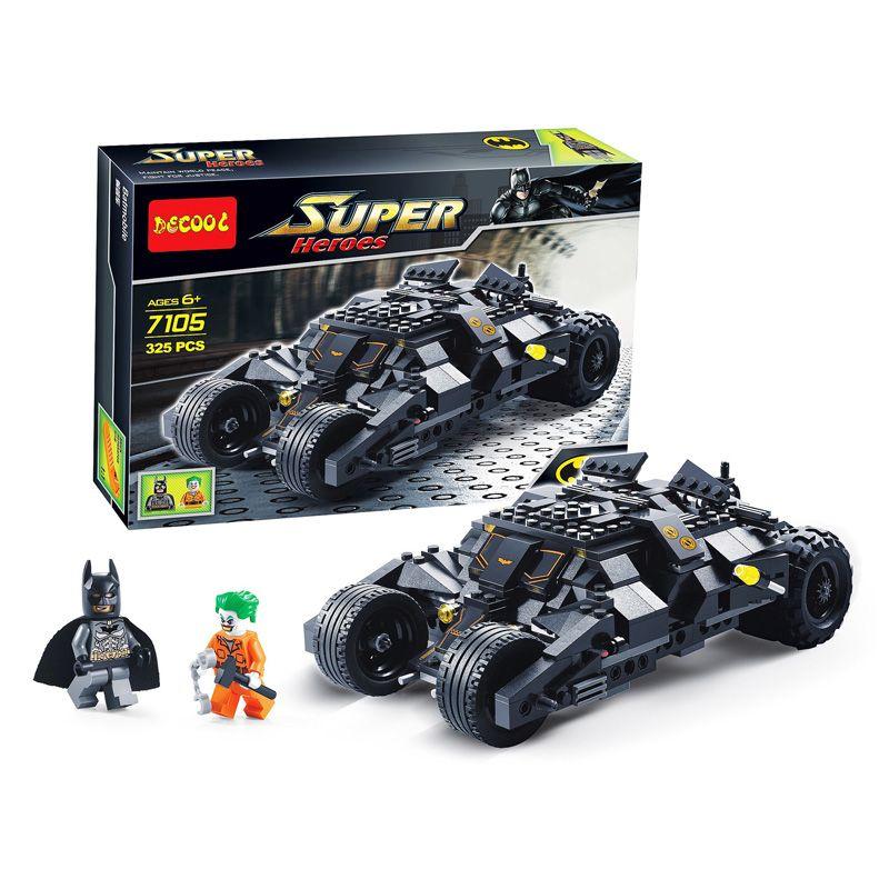 325 Pcs Super Héros Batman Course Modèle De Voiture De Camion Technique Building Block SetS DIY Jouets Compatible Avec Batman Cadeau