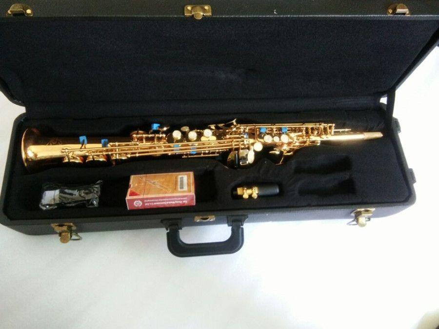 Gerade Kupfersopransaxophon High-pitch Bb Split Sopransaxophon B Flache Saxe Top Musikinstrument sax Saxofone