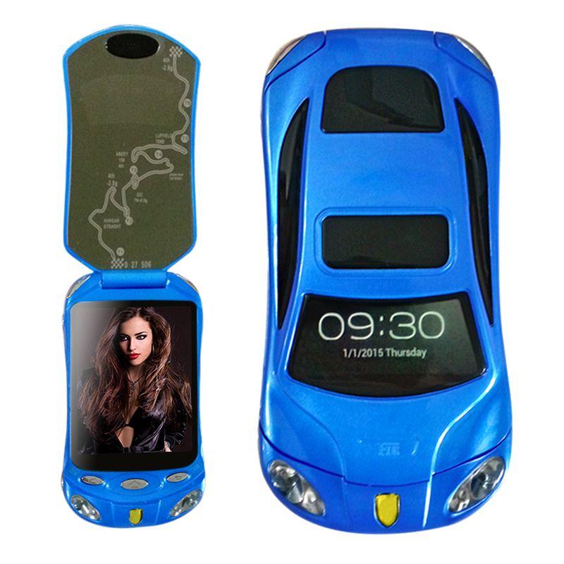 Flip unlocked smart car phone dual sim Android wifi bluetooth2.0  FM mp3 mp4 car model mini mobile phone P434